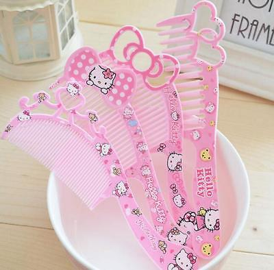 1pcs Kawaii Hello kitty Bow Hair Beauty Comb Hairdressing Massage Gift for Girl
