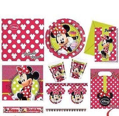 Fashion Party Supplies (Disney Minnie Mouse Minnie Fashion Birthday Party Supplies Tableware)