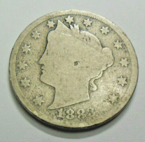 """1883 P LIBERTY HEAD """"V"""" NICKEL """"WITH CENTS""""  *FAIR OR BETTER*  **FREE SHIPPING**"""