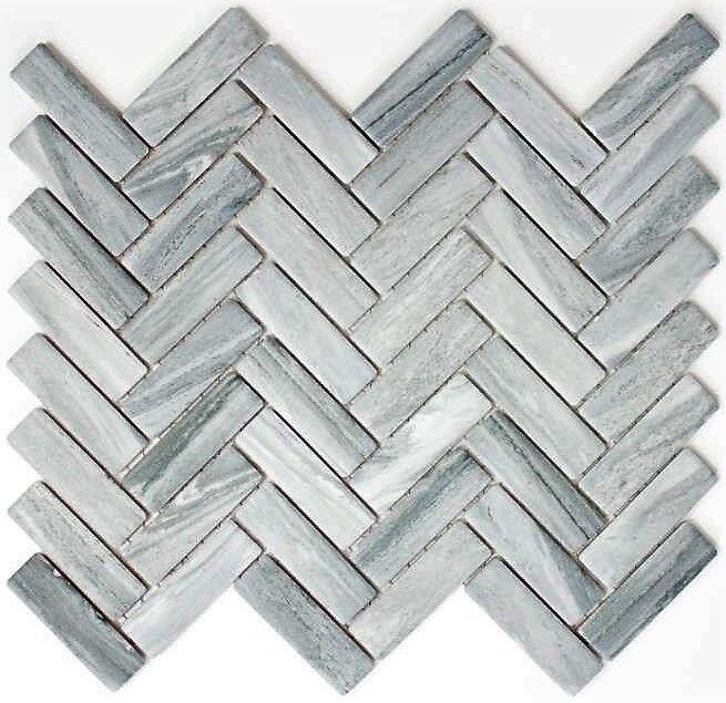 Mosaik Steinoptik Struktur hellgrau Fliesenspiegel Küche Art 16-HWa4LG 10Matten