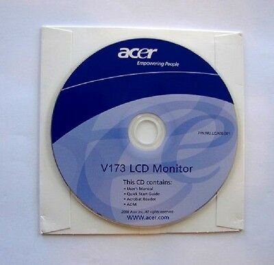 Acer LCD Monitor Driver V173 PC Computer Software Program -
