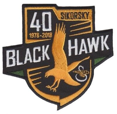 Sikorsky UH-60 Blackhawk Helicopter 40 Year Army Military Aviation Patch & Hook for sale  USA