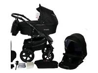 3 in 1 pram excellent condition only used carry cot for 6 weeks