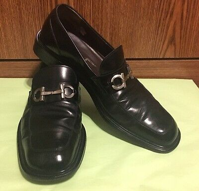 Men's Salvatore Ferragamo Black Leather Signature Loafer 8.5 D