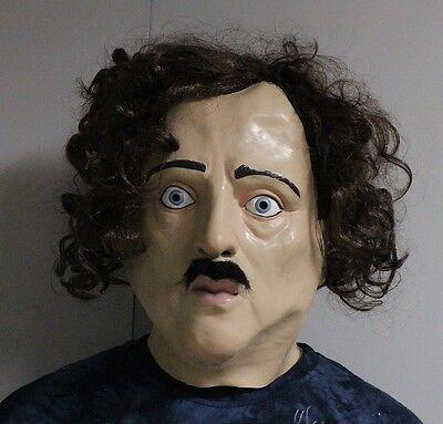 Latex Edgar Allen Poe Maske Halloween Hochwertig Kostüm den Folgenden - Promi Halloween Kostüm