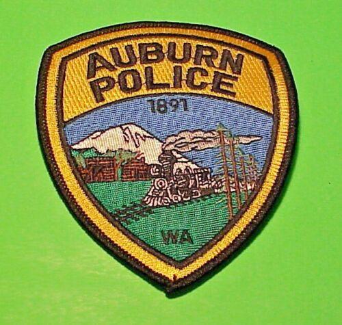 "AUBURN  WASHINGTON  1891  WA  ( TRAIN )  4 1/2""  POLICE PATCH  FREE SHIPPING!!!"
