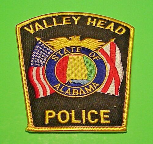"VALLEY HEAD  ALABAMA  AL  4 1/2""  POLICE PATCH  FREE SHIPPING!!!"
