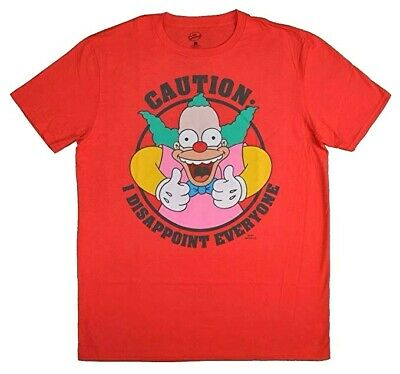 The Simpsons Krusty The Clown Caution I Disappoint Everyone Vintage Tee Shirt - Krusty The Clown