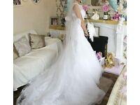white wedding dress 8-10