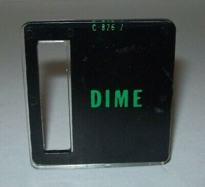 Dime Pinball Machine C-826-2 Bally Game Plastic Coin Plate Electro Mechanical