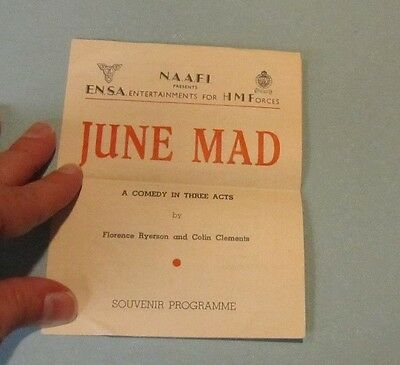 1945 WWII ENSA His Majesty's Forces June Mad Program Albert Chevalier Rene Ray