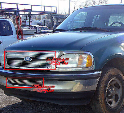 Fits 1997-1998 Ford F-150 2WD Billet Grille Combo -