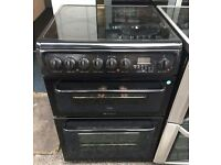 BLACK HOTPOINT 60cm ELECTRIC COOKER, 4 MONTHS WARRANTY, FREE LOCAL DELIVERY