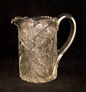 Pressed Glass Cream Pitcher