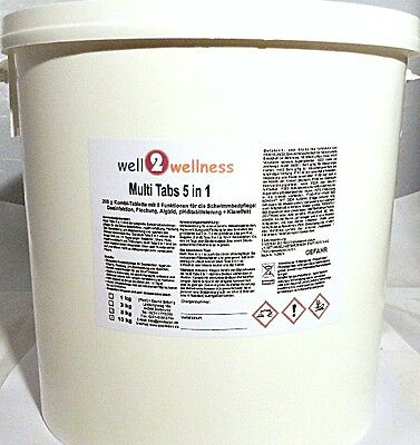 Chlortabletten Chlor Multitabs 5in1 / Multiblock 500 g - 10,0 kg
