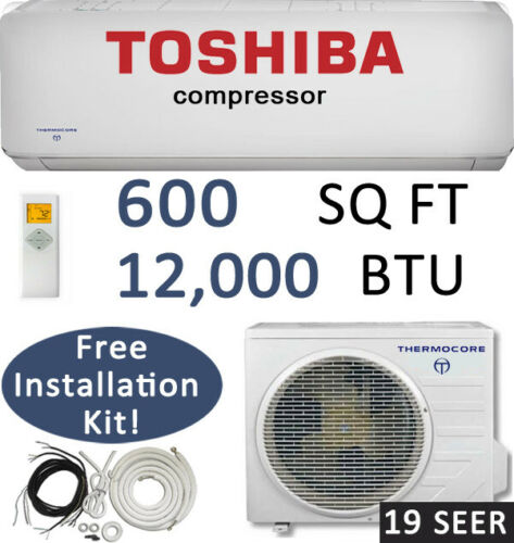 12000 BTU 19 SEER Ductless Mini Split Air Conditioner Heat Pump, Ceiling Casette