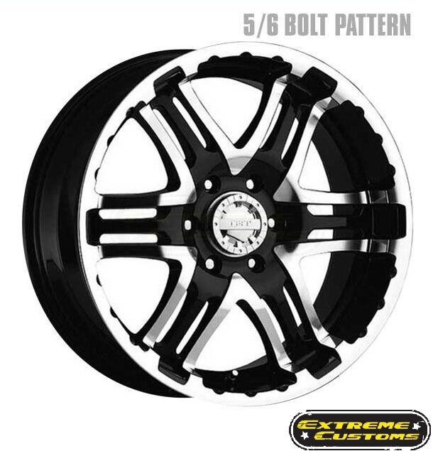 16 x8 713MB Gear Alloy Double Pump Gloss Black Machined 5 6 8 Lugs Wheels Rims