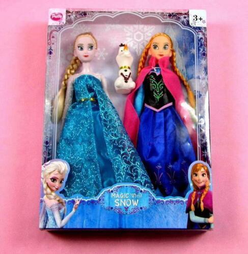 Frozen Eiskönigin Puppe Elsa Anna 2pcs Figur Mädchen Weihnachten Geschenk 30cm