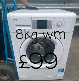 Beko 8kg washing machine free delivery in Leicester