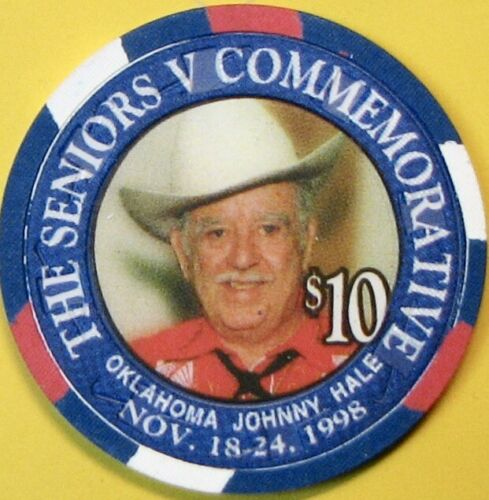 $10 Casino Chip. New Crystal Park, Compton, CA. Johnny Hale 1998. Q68.