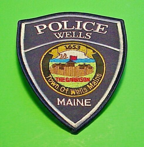 """WELLS MAINE THE GARRISON ( FORT )  1653  ME  5""""  POLICE PATCH  FREE SHIPPING!!!"""