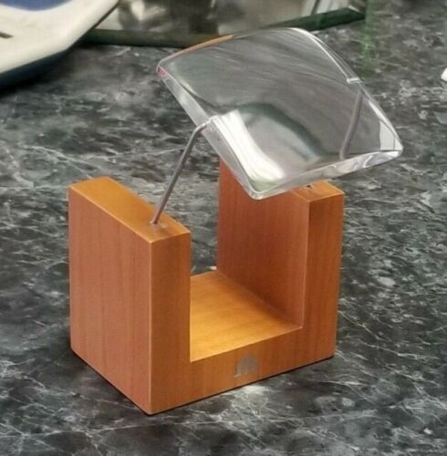 Maurice Lacroix Dealer Item Counter Jewelers Display Magnifier on Wood Base
