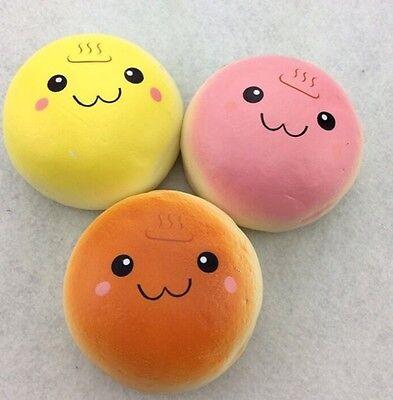 1 pc Random JUMBO ONCEN BUN squishy Charms SUPER SOFT smiling face bread