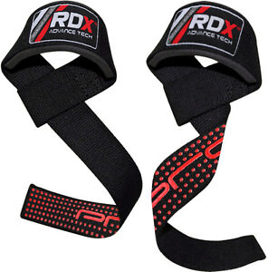 RDX-Padded-Weight-Lifting-Training-Gym-Straps-Hand-Bar-Wrist-Support-Gloves-Red