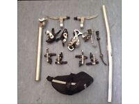 Mountain bike parts.