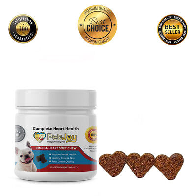 Omega 3 Bites Fatty Acids EPA DHA Vitamin E Skin Coat Heart Support Soft Chews