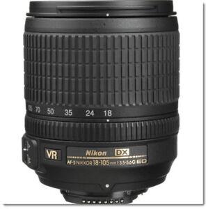 Nikon 18-105mm f/3.5-5.6 G ED VR AF-S DX Nikkor DSLR Lens