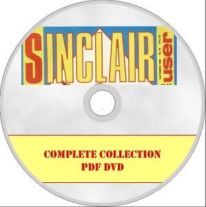 SINCLAIR USER magazine EVERY ISSUE in PDF format on DVD Spectrum ZX81 QL etc.