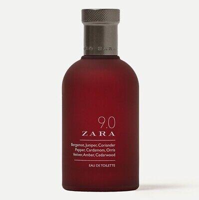 ZARA 9.0 for MEN * 3.3/3.4 oz (100ml) Eau de Toilette EDT Spray NEW UNBOXED