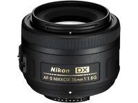Brand New - Nikon AF-S DX NIKKOR 35mm f/1.8G Lens