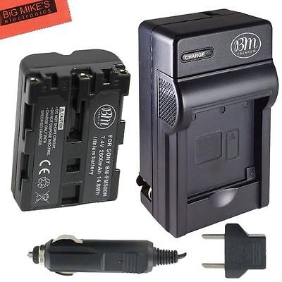 BM NP-FM500H Battery & Charger for Sony Alpha (200a Digital Camera Battery)
