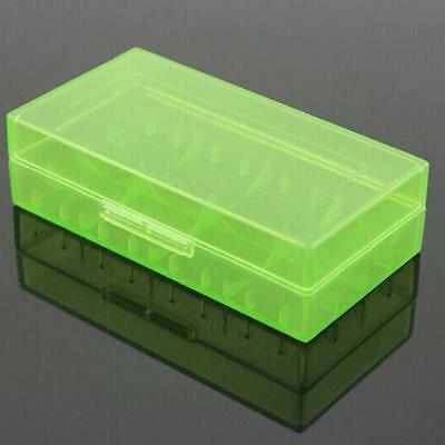18650 CR123A 16340 Hard Case Cover Holder for AA AAA Battery Storage Box Green
