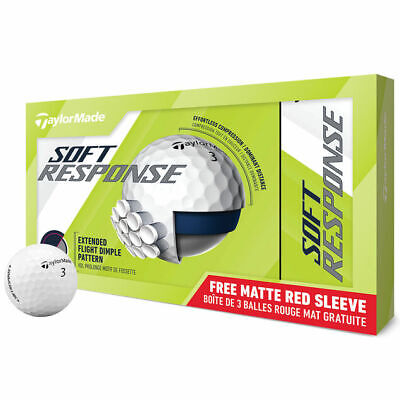 *NEW* 1 DOZEN TAYLORMADE SOFT RESPONCE GOLF BALLS + FREE SLEEVE LAUNCH PACK