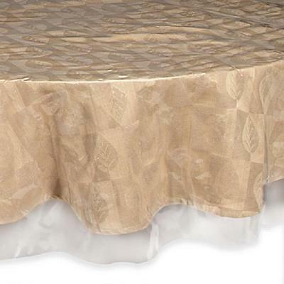 "Super Clear Table Cloth Cover Protects Fabrics 70"" Round"