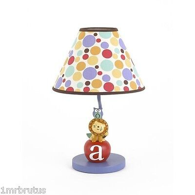 Baby Boy Room Colors (CoCaLo Alphabet Babies Lamp Boy's Nursery Room Decor Lion Owl Colorful)