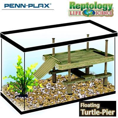Reptile Turtle Climb Basking Pier Floating Platform DECOR RAMP For Aquarium Tank