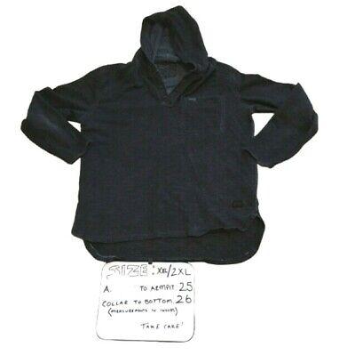 Affliction Legacy Long Sleeve Hooded Henley Black Shirt Mens Size 2XL XXL NWT