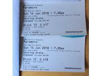 2x Paramore tickets Birmingham 14th Jan