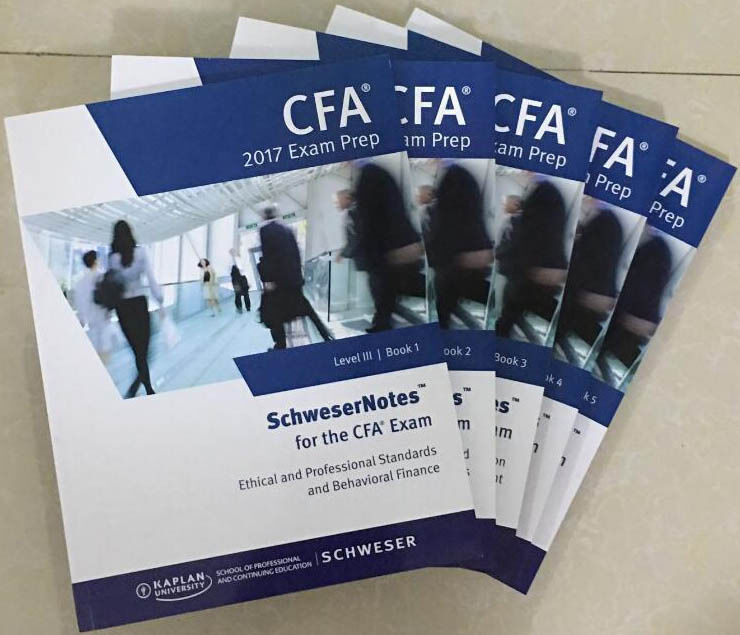2017 Cfa Level 3 Schweser Notes Print Edition Full Set Iii