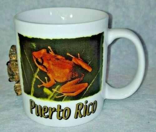 "Puerto Rico ""Frog"" Coffee Cup Souvenir Mugs Collectible Travel Mem. US Territory"