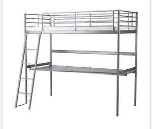 IKEA Loft bunk bed with desk