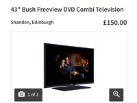 """43"""" television Freeview / DVD"""