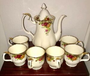 Royal Albert Old Country Roses Coffee Set