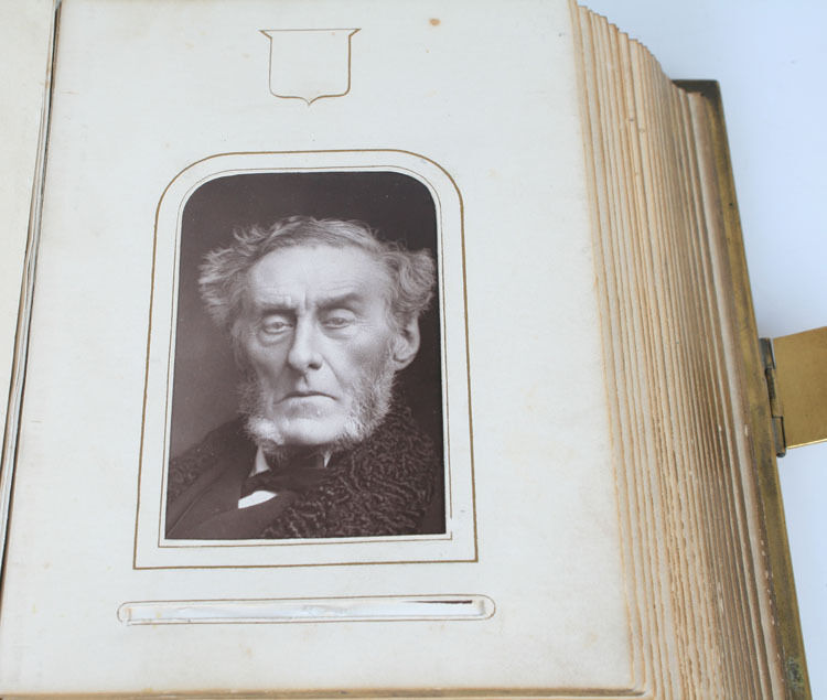 Antique Cdv Photo Album, 19th Cen Philanthropist, Rich In History.