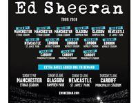 Ed Sheeran Tour Tickets 24th May 2018
