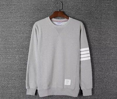 Thom Browne Long sleeve Gray Striped Sweatshirt  Size3(L)